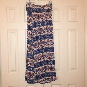 Maxi Skirt Red White & Blue Tie Dye